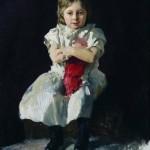 Дівчина з лялькою Надя Волжинська