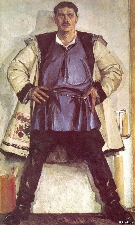 1926 р. Автопортрет у білому кожусі